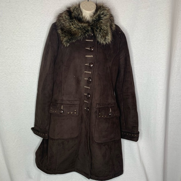 4/$35 Novelti Winter Coat S Faux Fur Lined Knee